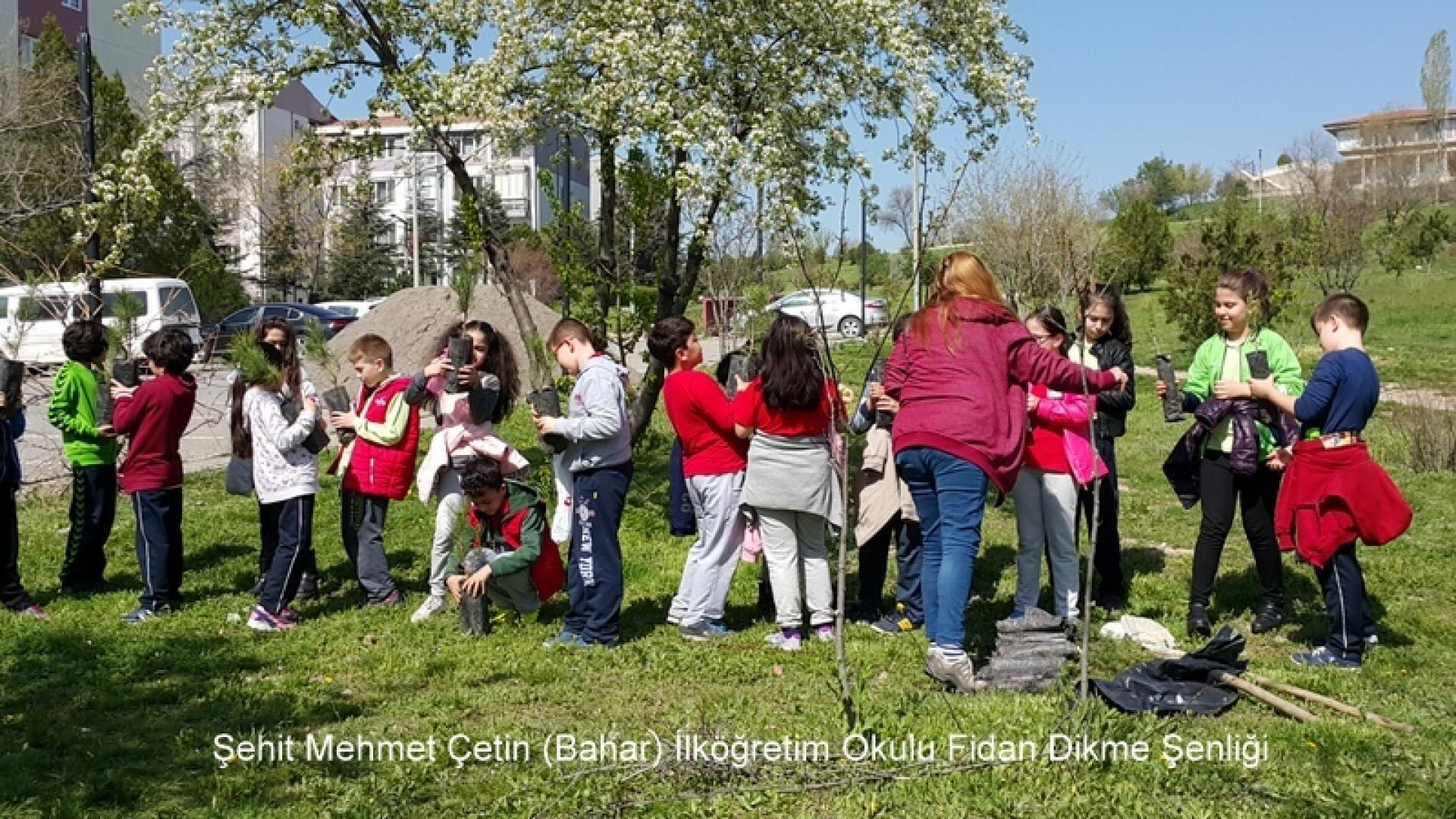 Şehit Mehmet Çetin İlkokulu Ağaç Dikme Şenliği 1523000126 352