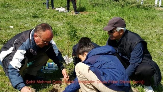 Şehit Mehmet Çetin İlkokulu Ağaç Dikme Şenliği 1523000132 692 1024x576