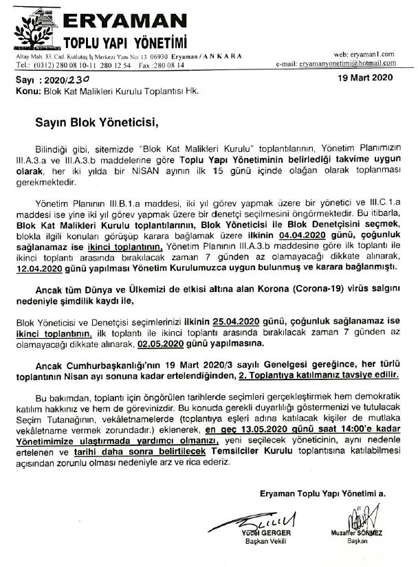 Blok Kat Malikleri Kurulu Toplantısı Hakkında 2020 03 24 13 45 40
