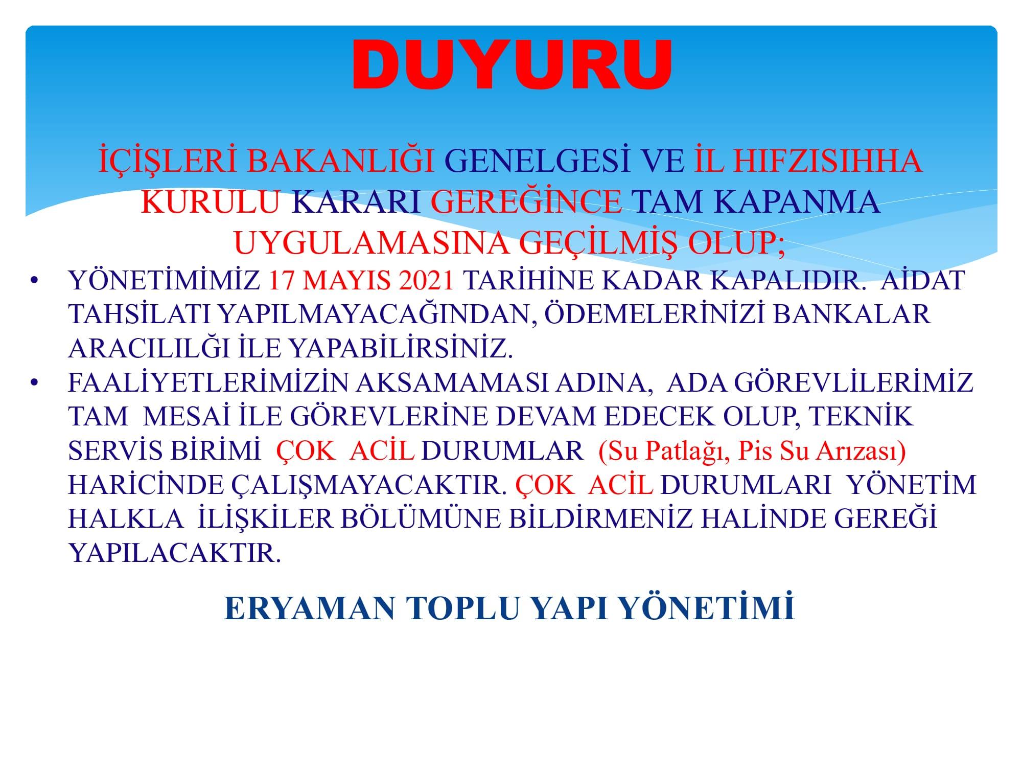 Anasayfa duyuru